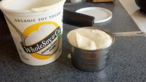 1 cup soy yogurt